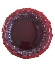 Vintage Avon Cape Cod Ruby Red Sandwich Glass 7 Salad Plate Dish Dishes Plates