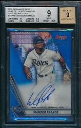 Wander Franco Auto 2019 Bowmanand039s Best Blue Refractor /150 Rookie Rc Bgs 9/9 Mint
