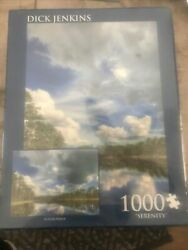 Sealed Dick Jenkins Serenity 1000 Piece Puzzle Lake Nature Clouds Sky Trees New