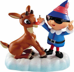 New Carlton Rudolph The Red-nosed Reindeer Magic Light Sound Ornament Talking