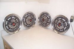 75 76 77 78 79 Ford Granada Mustang Nos 14 Wire Wheel Covers/hubcaps Set 4 Ford