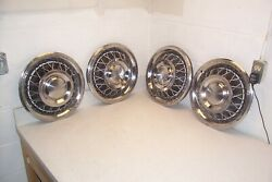 Vintage 60 61 62 63 64 65 Ford Gm Mopar Olds 15 Wire Wheel Covers/hubcaps Set-4