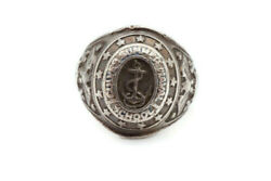 Vintage Lgb Culver Summer Navel School Sterling Silver Mens Class Ring Size 11