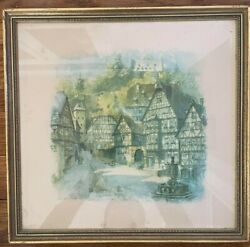 Stix, Baer And Fuller Art Galleries Set Of 3 Pieces With Vintage Style Wood Frames