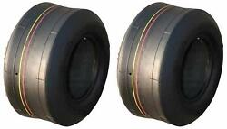 2 Pack Of 11x4.00-5 Smooth Tread 4ply Tires Fits Toro, Scag, Bobcat, Wright