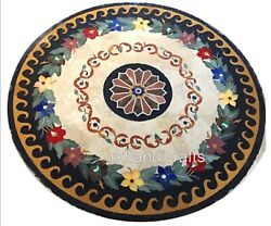 Royal Design Inlay Dining Table Top Round Shape Restaurant Table Cottage Crafts