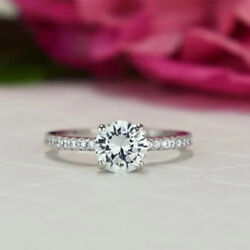 1.05 Ct Natural Diamond Womenand039s Engagement Ring 14k White Gold Size 5 6 7.5 8