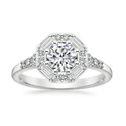 0.95 Ct Natural Diamond Women Engagement Ring Solid 14k White Gold Size 7 6 5 8
