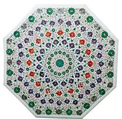 Colorful Flowers Art Inlaid Hallway Table Top Elegant Marble Dining Table Top