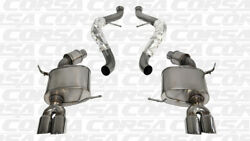 Corsa For 2008-12 Bmw M3 2.5 Cat-back Dual Exhaust With Twin 3.0 Polished Tips