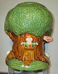 Rare 1981 Keebler Ernie The Elf Tree Pottery Cookie Jar 10.5 Tall Excellent