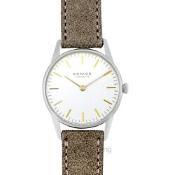 Nomos Glashuette Orion 319 White Silver-plated Dial Ladyand039s Watch Genuine