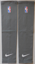 Nike Nba Dri-fit Shooter Arm Sleeves Color Dark Steel Grey/white Size Xl