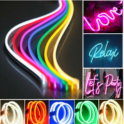 Usa 50pack 5m 12v Flexible Led Strip Waterproof Sign Neon Lights Silicone Tube