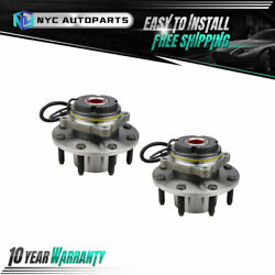 Pair Front Wheel Hub And Bearing For 1999 Ford F250 F350 Super Duty W/srw 4wd