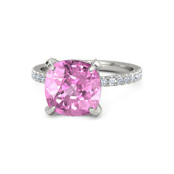 Real 5.10 Ct Pink Sapphire Gemstone Ring Solid 950 Platinum Diamond Rings Size 8
