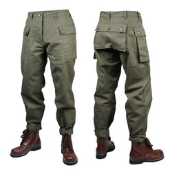 Wwii Vietnam War Us Army P44 Pants Uniforms Trousers Army Green Size 30 32 34 36