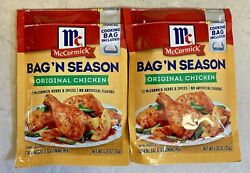 McCormick Bag #x27;N Season Original Chicken Herbs and Spices 1.25 Oz Lot of 2