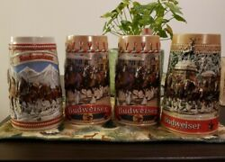 Genuine Budweiser 80's Limited Edition A,b,c Series Collectible Beer Stein /mug