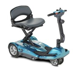 New Ev Rider Af Automatic Folding Mobility Scooter - Blue