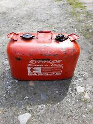 Evinrude Cruise-a-day Outboard Boat Engine Gas Can Tank Metal
