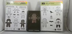 Stampin Up Set 3 Cookie Cutter Halloween, Christmas, Cookie Cutter Builder Punch
