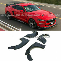 For Ford Mustang 15-20 Gt500 Fender Flares Wide Body Kit Wheel Arch Cover Trim