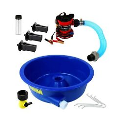Blue Bowl Concentrator Kit With Pump, Leg Levelers, Vial - Gold Mining Equipm...