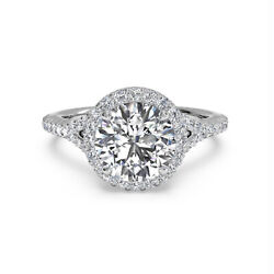 Solid 950 Platinum Rings 0.80 Ct Diamond Engagement Ring For Women Size 7 8 9 10