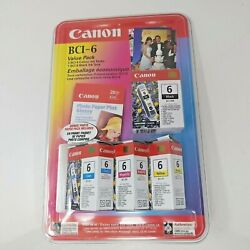"""Canon 24 Bci-6 1 Color 3 Black Value Pack W/ 4""""x 6"""" Photo Glossy Paper"""