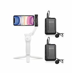 Movo Edge-di-duo Wireless Lavalier For Iphone - Perfect Compact Lav Mic For S...