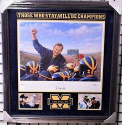 Bo Schembechler Michigan Football The Game Limited Print Signed And Framed - Coa