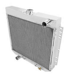 Frostbite Aircraft Billet Aluminum Radiator Polished 4 Row For 1963-1973 Ford