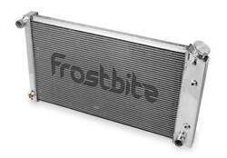 Frostbite Aircraft Polished Billet Aluminum Radiator 2 Row For 1996 Ford Mustang