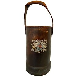 Antique French Leather Fire Bucket