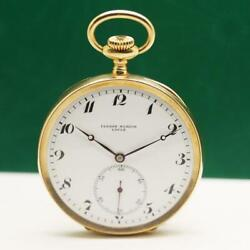 Ulysse Nardin 18k Solid Gold Manual Wind Pocket Watch 52mm Box And Papers