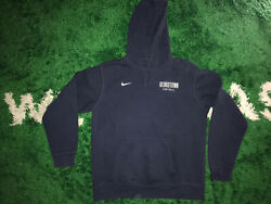 Vtg Nike Georgetown University Football Ncaa Pullover Hoodie Embroidered Sz L