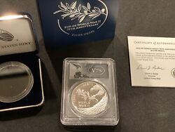 2020 End Of World War Ii 75th Anniversary Silver Medal Pcgs Pr70dcam