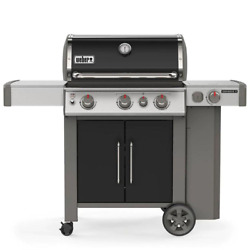 Genesis Ii E-335 3-burner Propane Gas Grill In Black With Built-in Thermometer A