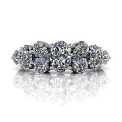 Solid 950 Platinum Band 0.80 Ct Real Diamond Engagement Women Rings Size P Q R S