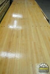 Salvaged Vintage Bowling Alley Lane Maple And Pine 12and039-16and039 Guide Arrows Dots