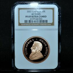 2007 South Africa Gold Krugerrand ✪ Ngc Pf-69 ✪ Proof 1kr 1 Oz Ozt ◢trusted◣