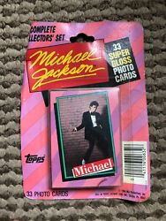 Vintage Michael Jackson Topps Stickers And Photo Card Lot