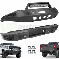 For 2007-2013 Toyota Tundra Front Rear Bumper W/ Led Light Winch Plate D-ring