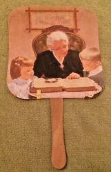 Antique Funeral Home Paper Fan Chiles-cooper Chapel Bloomfield Mo Lordand039s Prayer