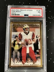 2000 Pacific Private Stock Gold Tom Brady Rookie Rc 051/181 128 Psa 7 Mar21-49