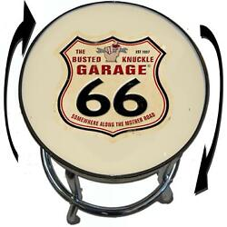 Busted Knuckle Garage 09-bkg-86-rte66 Route 66 Barstool