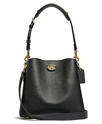 🌺🌹Coach Willow Leather Bucket Bag Black Original Packaging $315.00