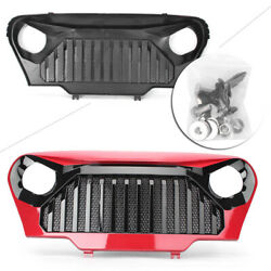 Car Front Gladiator Grill Grille Red Matte Mesh Fit Jeep Wrangler Tj 1997-2006