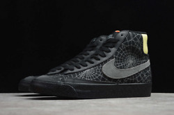 Nike Blazer Mid And03977 Shoes Spider Web Halloween Black Limelight Dc1929-001 Menand039s